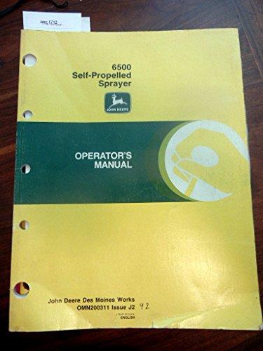 John Deere 6500 Self Propelled Sprayer Operators Manual Issue J2