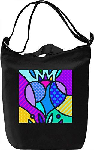 Pop Art Heart Borsa Giornaliera Canvas Canvas Day Bag| 100% Premium Cotton Canvas| DTG Printing|