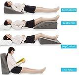 JOYPEA Wedge Pillow Set 3 in 1- Foam Bed Wedge