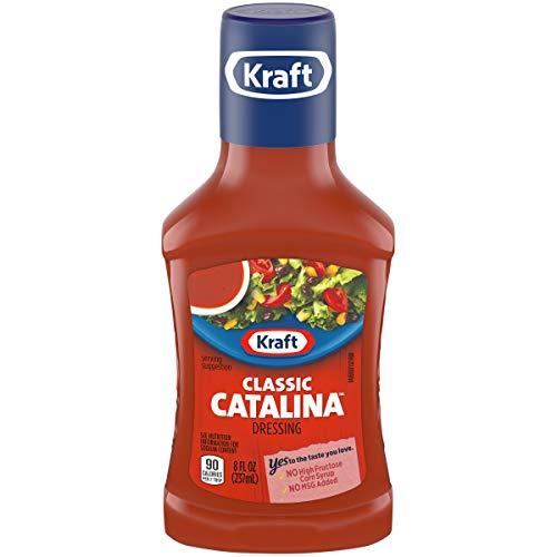 Kraft Classic Catalina Dressing, 8 fl oz Bottle (Best Bottled Greek Dressing)