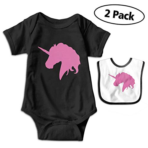 BenF Pink Unicorn Polo Horse Baby Onesie Outfits Bodysuit Romper for 0-24months (Polo Horse Cookie Cutter)