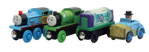 - Learning Curve Thomas and Friends Wooden Railway - Slippy Sodor Gift Pack