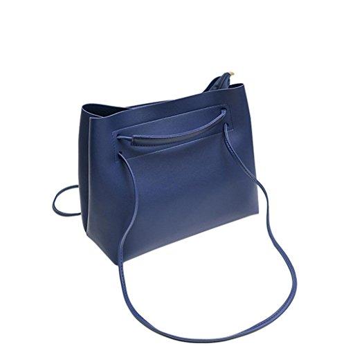 Suave Mano Cangilón Casual Bolsas Crossbody Hombro WINWINTOM Moda Moda Mujer Bolso Bolsos Totes para Mujer de Azul Totes Bolsos xqawI8PRq