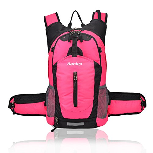 Price comparison product image BONLEX Cycling Hydration Pack Biking Backpack 20L Multi-Function Riding Backpack with Insulation Compartment,3L Water Bladder Available,Lightweight Daypack Hiking Backpack (Pink)