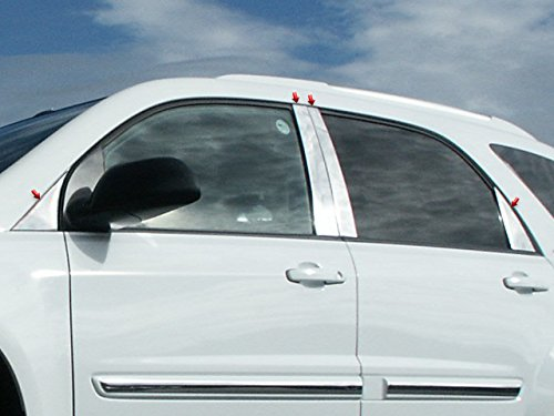 QAA FITS Equinox 2005-2009 Chevrolet 8 Pc: Stainless Steel Pillar Post Trim Kit, 4-Door, SUV PP45162
