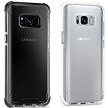 Samusng Galaxy S8 Plus Case,iBarbe Perfect Fits Samsung Galaxy S8 Plus Anti-Slip TPU Slim Protection Premium Clarity Thin Hard Protective Case Covers for Galaxy s8 Plus 2017(clear+gray clear)