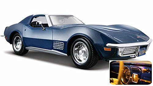 Maisto 1970 Chevy Corvette T-Top 1/24 Scale Diecast Model Car Red ()