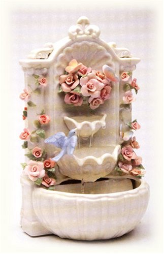 Porcelain Angels Candle Holder (Cosmos SB49056 Fine Porcelain Floral Fountain Musical Figurine, 8-7/8-Inch)
