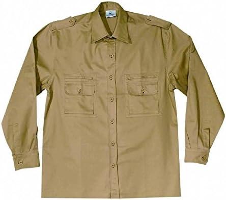 Juego 2 Piezas Bolsillos Camisa de Manga Larga 100% algodón, Kaki: Amazon.es: Bricolaje y herramientas