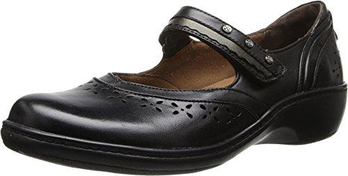 Aravon Women's Dolly Flat,Black,8 W US