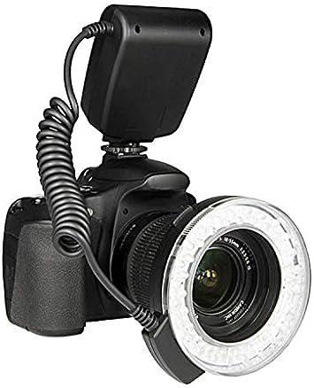 48 قطعة RF-550D حلقات ليد كاملة لفلاش كاميرات نيكون وكانون واوليمبوس وسوني (اتش دي ام اي) وكاميرات دي اس ال ار