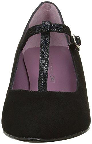 Studio 19948 Paloma Party Ante Negro Baguette Negro Mujer Zapatos para 1RHqB