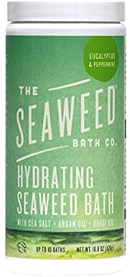 The Seaweed Bath Co. Hydrating Seaweed Bath, Eucalyptus & Peppermint, Natural Organic Bladderwrack Seaweed, Vegan, 16.8 oz.