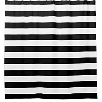 Amazon.com: Angelly Black And White Striped Shower Curtain: Home ...