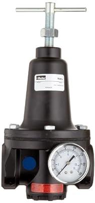 """Parker R119-04CG Regulator, 0-125 psi Pressure Range, Gauge, 150 scfm, 1/2"""" NPT"""