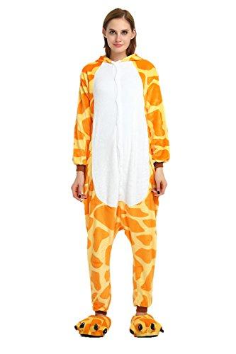 Cousinpjs Adult Cosplay Costume Animal Sleepwear Halloween Pajamas (Small, Giraffe)