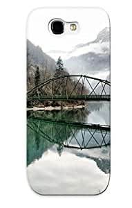 Christmas Day's Gift- New Arrival Cover Case With Nice Design For Galaxy Note 2- Bridge Over The Mountain River