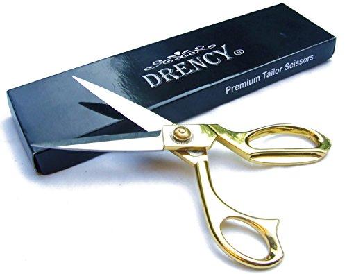 Dressmaker Sewing Scissors by Drency. Professional 8 Inch Stainless Steel Tailor Scissor Shears