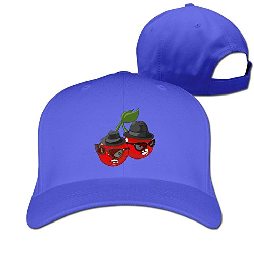 Unisex Emoji Cherry Sunglasses Adjustable Snapback Trucker Hat RoyalBlue One - Cap Ford Baseball Tom