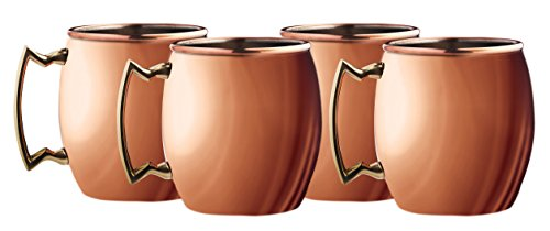 Silve One Moscow Mule Mug (4 Pack), 20 oz, Copper by Silve One