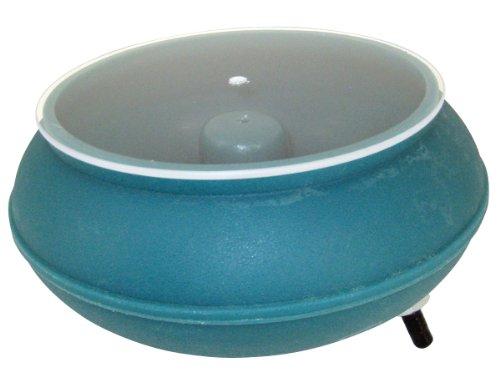 """Raytech 23-036 B-18 Polyethylene Bowl with Lid, 0.18 cubic feet Capacity, 12"""" Diameter, For AV-18 Standard Vibratory Tumbler"""