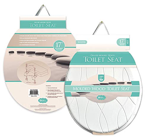 Home Expressions Deluxe Molded Wood Toilet Seat 17 Standard Round