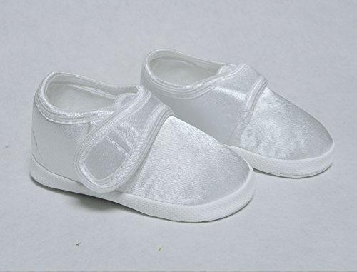 Taufschuhe Taufe Babyschuhe Sandalen Weiß Gr.10-13 OM-005 (11cm)