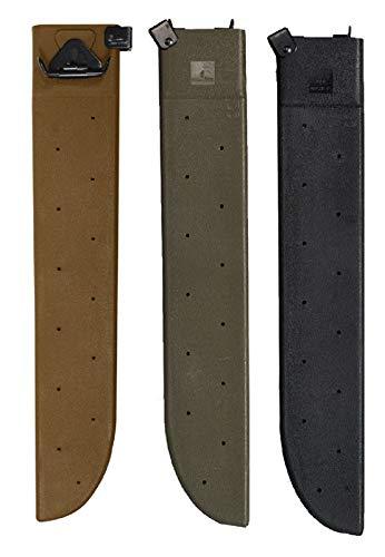 "hersrfv clothing Od Green Black Coyote Brown Plastic Hard Shell Machete Sheath Tactical Cover 18"""