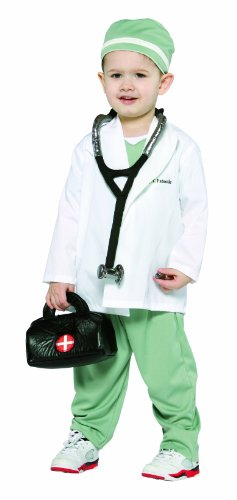[Rasta Imposta Future Doctor, White/Green, 3-4T] (Rasta Baby Costume)