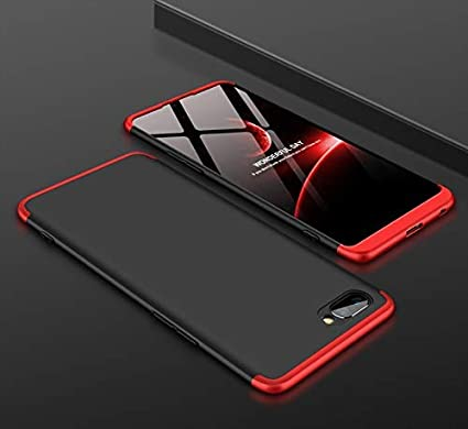 huge discount fcc05 9fba2 Skin World Oppo A3S (2018) Gkk Cover - Full Body 3-in-1 Slim Fit Full 3D  360 Degree Protection Hybrid Hard Back Case Cover (Black-Red)