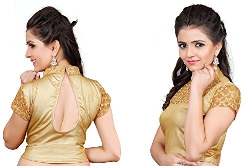 Fressia-Fabrics-Saree-Blouse-Readymade-Designer-Free-Size-For-Womens-Gold-Free-Size