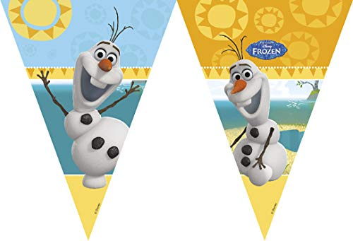 Disney Unique Party 71999 - 9ft Frozen Bunting Flags Featuring Summer Olaf -