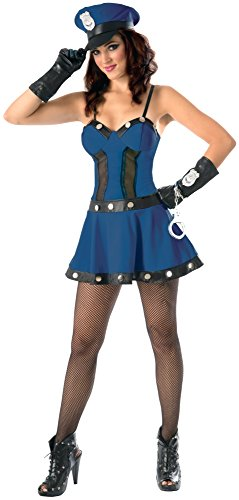 Forum Novelties Women's Flirty Cop Costume, Navy/Black