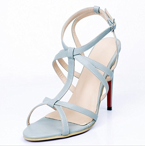 YCMDM Women's Sandals Stiletto Heel Nightclub Party Evening Office Career Fashion Shoes , 43 , light grey
