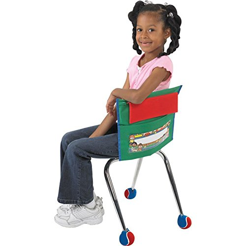 Student Chair Pockets, Early Childhood, Green - Set Of 36