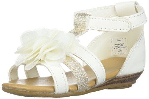 Baby Deer Girls' 01-6309 Sandal, Ivory, 4 Child US Toddler - Ivory Dress Sandals