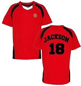 Producto oficial Manchester United FC personalizada nombre y número camiseta niños camiseta para hombre U Ventilador de fútbol producto oficial Club ...