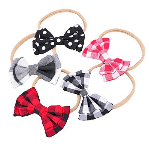 Baby Headbands Nylon Bows Elastic Hair Accessories Kit For Girls Newborn Infant Toddler