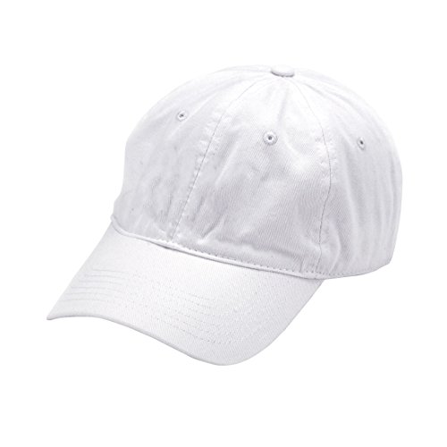 White Hat Ball - Wholesale Boutique White Women's Soft Cotton Ball Cap With Adjustable Metal Clip