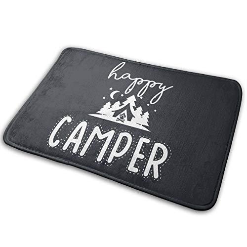 Yangkun Happy Camper Doormat, Front Welcome Anti-Skid Absorbent Moisture Entrance Rug Floor Mats Indoor Outdoor Rug for Entrance, Door Floormat