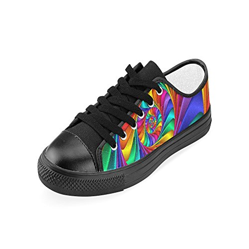 Canvas Shoes Women Psychedelic Arrival Rainbow Model018 For Spiral 2015 Custom Artsadd New pnFX0IqI