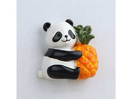 FenBuGu-JP フルーツミニチュアパンダおもちゃ庭ホームデコレーション用カラフルマイクロ風景パンダ(カラフル)