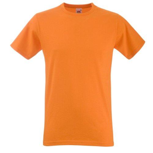 Fruit of the Loom Equipada camiseta de manga corta naranja