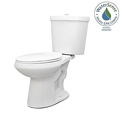2-piece Dual Flush Round Toilet in White