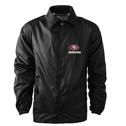 Dunbrooke Apparel Men's Coaches Jacket, Black, X-Large