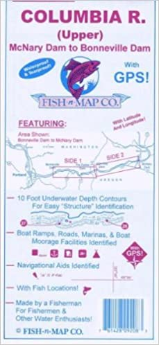 Fish-n-Map Columbia River Upper McNary Dam to Bonneville Dam ... on canadian columbia river dams map, wanapum dam columbia river on map, us dams and reservations map, snake river dams map, bonneville dam map,