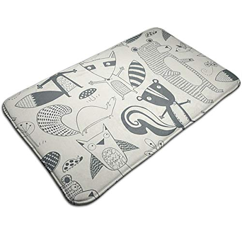 CYISOK Bath Mats Non-Slip Mats Nancy Wolff Muchas Cosas Doormats Super Absorbent Indoor/Outdoor Uses 19.5