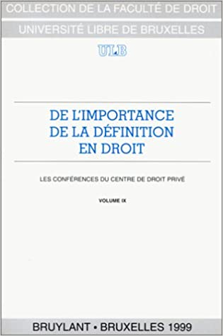 Amazon Fr De L Importance De La Definition En Droit Les