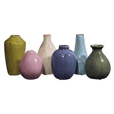 IMAX 35004-6 Mini Tuscany Decorative Vases, Set of 6
