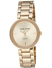 Women's AK/1362CHGB Diamond Dial Gold-Tone Bracelet Watch